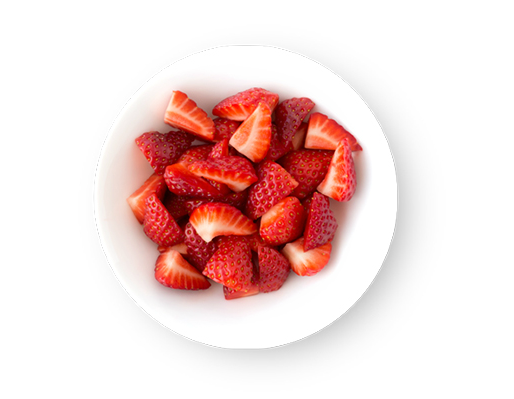 This Glucerna® vegetarian meal plan includes fresh strawberries