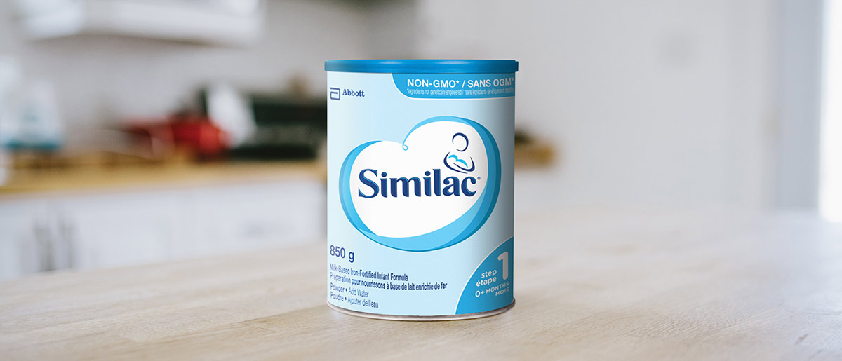 Similac® Iron-Fortified - non-GMO baby formula in a 850g powder can