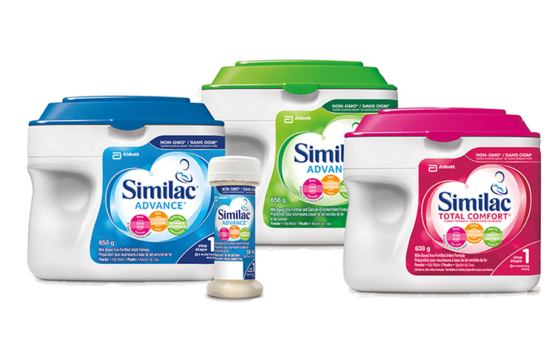Similac® Advance® Step 1, Similac® Advance® Step 2, and Similac Total Comfort™