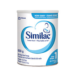Similac® Lower Iron NON-GMO 850 g powder