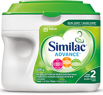 Similac® Advance® Step 2 non-GMO baby formula in a 658g powder pack