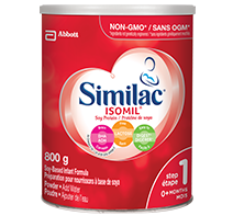 Similac® Isomil® Step 1 with DHA, soy-based formula, 800g powder can