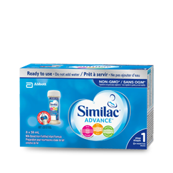Similac® Advance® Step 1, 8 x 59 mL ready to use