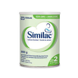 Similac® Step 2 calcium-enriched, non-GMO formula in a 850g powder can