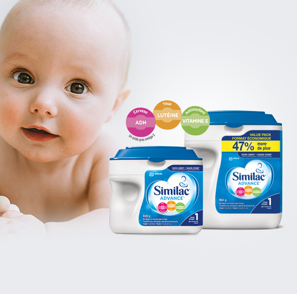 Similac® Advance® Step 1 658 g & 964 g
