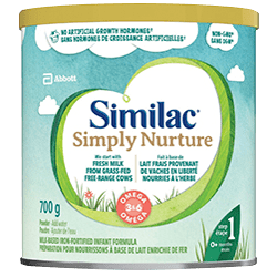 Similac Simply Nurture non-GMO infant formula in 700g powder pack