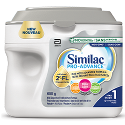 Similac Pro-Advance Step 1 is our most advanced and closest formula to breast milk.