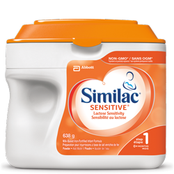 Similac<sup>®</sup> Sensitive<sup>®</sup> baby formula for babies who are lactose sensitive