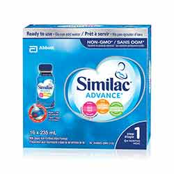 Similac® Advance® Step 1, 16 x 235 mL ready to use