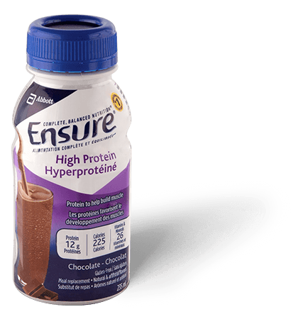 Ensure® High Protein Chocolate supplement drink for extra protein