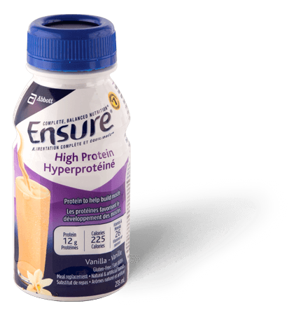 Ensure® High Protein Vanilla recovery meal replacement drink