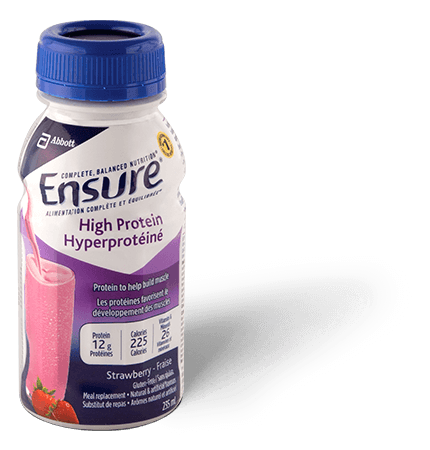 Ensure® High Protein Strawberry post workout meal replacement shake