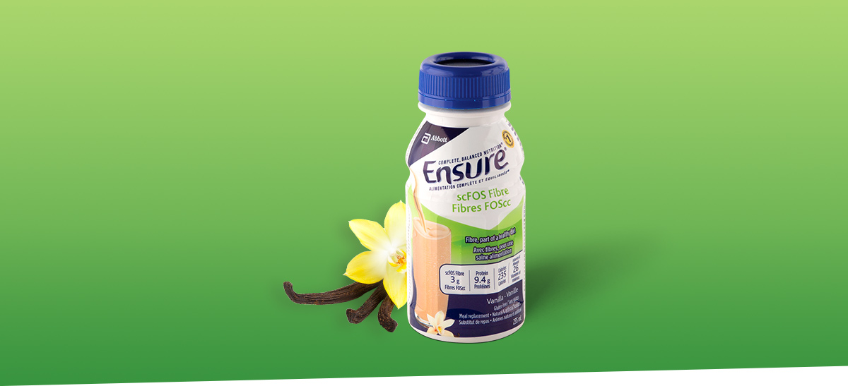 Maintain a healthy routine with Ensure® scFOS Fibre nutritional drink