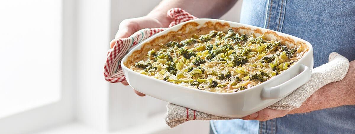 Broccoli and cheese casserole recipe made with Vanilla Ensure® Regular