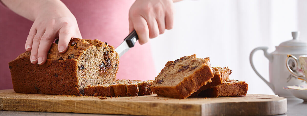 Banana bread with dark chocolate chips recipe with Ensure® Regular