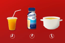 Nutritional remedies for nausea and vomitting using orange juice, soup &  Ensure®