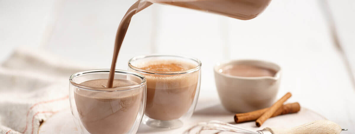 Mochaccino coffee recipe made with chilled Chocolate Ensure® Regular