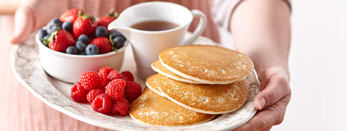 Nutritious homemade pancake recipe made with Vanilla Ensure® Regular