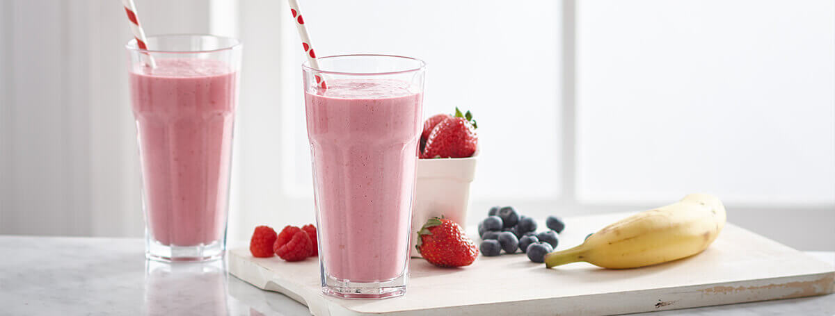 Power smoothie made with Vanilla Ensure® Plus Calories