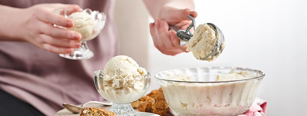 Homemade frozen yogurt recipe made with maple syrup and Ensure®