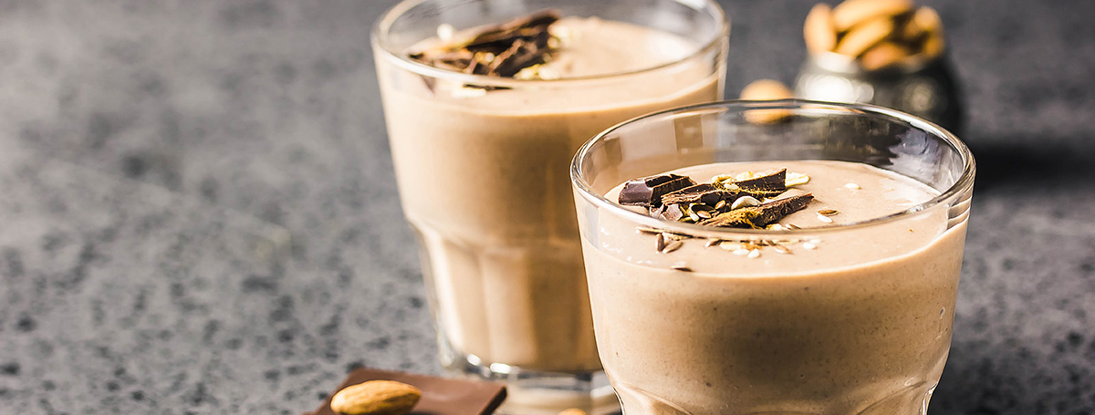 Peanut Butter Cup Protein Smoothie recipe, made with Ensure High Protein 16 g shake