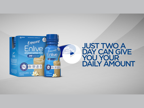 Ensure® Enlive® bottle meant for muscle loss with age
