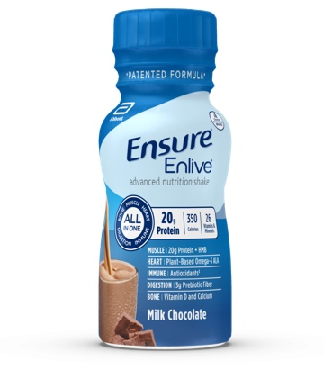 8 oz Ready-To-Drink Ensure® Enlive® Milk Chocolate Protein Shake Bottle