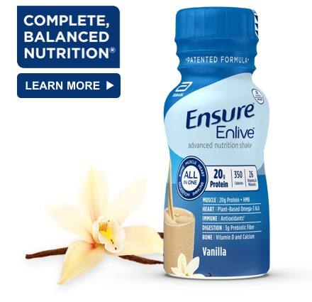 8 oz Ready-To-Drink Ensure® Enlive® Vanilla Protein Shake Bottle