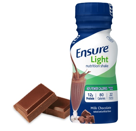 8 oz Ready-To-Drink Ensure® Light Milk Chocolate Protein Shake Bottle