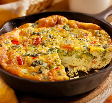 <h2><strong>Quiche de queso cheddar y pavo</strong></h2>