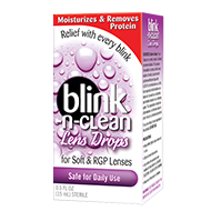 Information on how to use Blink RevitaLens Multi-Purpose Disinfecting Contact Solution for cleaning and disinfection of contact lenses