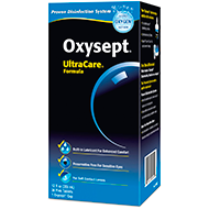 instructions, Oxysept Disinfecting Solution, Neutralizer – UltraCare® Formula, disinfecting, neutralizing, storing, daily wear, extended wear, contacts