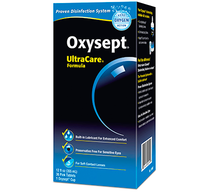 disinfect contacts, neutralize contacts, hydrogen peroxide contact solution, oxysept, ultracare