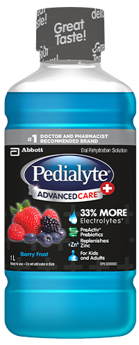 Pedialyte AdvancedCare Plus Electrolyte Drink with Prebiotics – Berry Frost Flavour