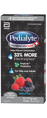 Pedialyte AdvancedCare Plus Electrolyte Powder with Prebiotics – Berry Frost Flavour
