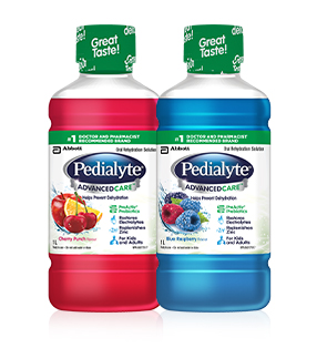 Pedialyte® AdvancedCare™ helps prevent dehydration and replace fluids