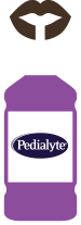 Replace electrolytes lost through diarrhea or vomiting with Pedialyte®
