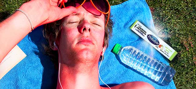Drinking Pedialyte® can help you rehydrate after heat exhaustion-mobile