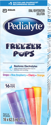 Pedialyte® Freezer Pops are a cool way to rehydrate during the summer