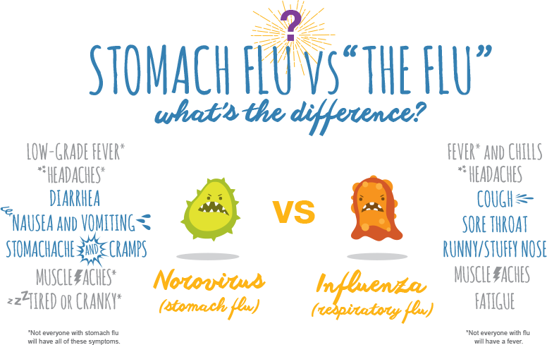 The difference between stomach flu and