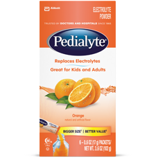Pedialyte Orange Powder Pack