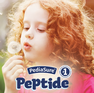 Kids with specialized peptide-based nutrition needs can rely on PediaSure Peptide for complete nutrition