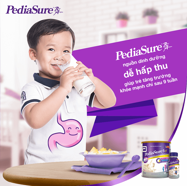 Bổ sung PediaSure giúp tăng cường sức đề kháng cho trẻ