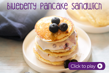 blueberry pan cake With PediaSure Vanilla Flavour