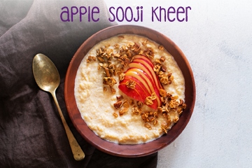 apple sooji kheer