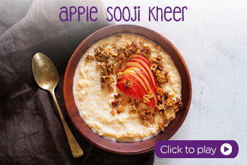 Apple Sooji Kheer With PediaSure Vanilla Powder