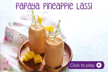 Papaya Pineapple Lassi With Pedia Sure Chocolate recipe