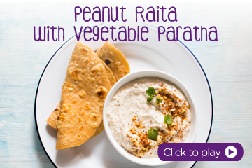 PediaSure Peanut Raita with Vegetable Paratha Recipe for Kids