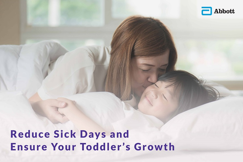 Pediasure reduced number of sick days toddler immunity