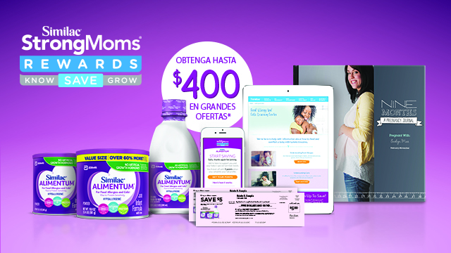 For savings and benefits, join Similac® Alimentum® StrongMoms® Rewards